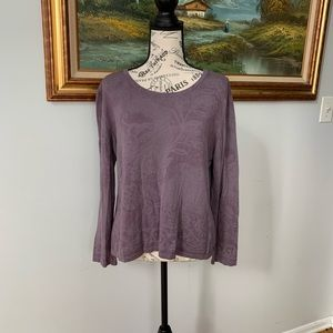 J. Jill purple silk/cashmere long sleeve sweater